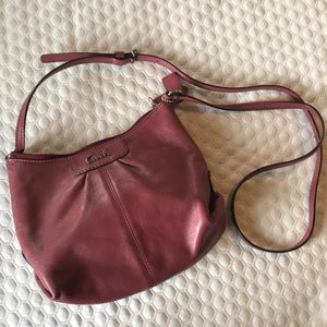 Gently used Coach leather cross body